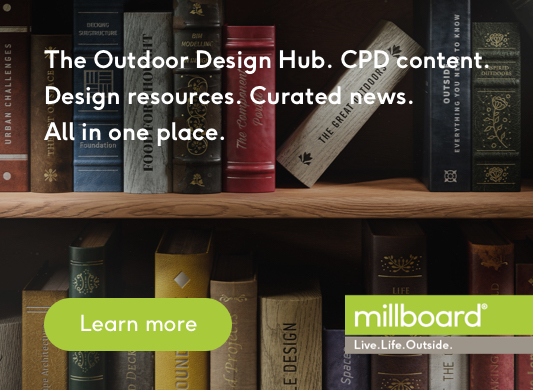 Millboard - The Outdoor Design Hub. CPD content. Design resources. Curated news. All in one place