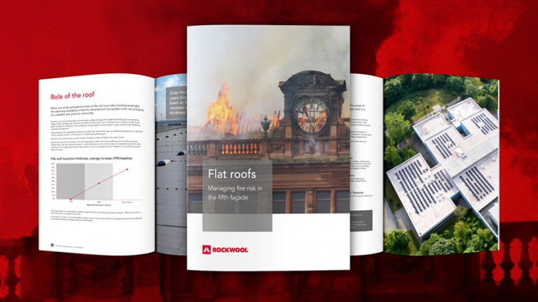 ROCKWOOL® Supports Contractors in Managing Flat Roofs Fire Risk