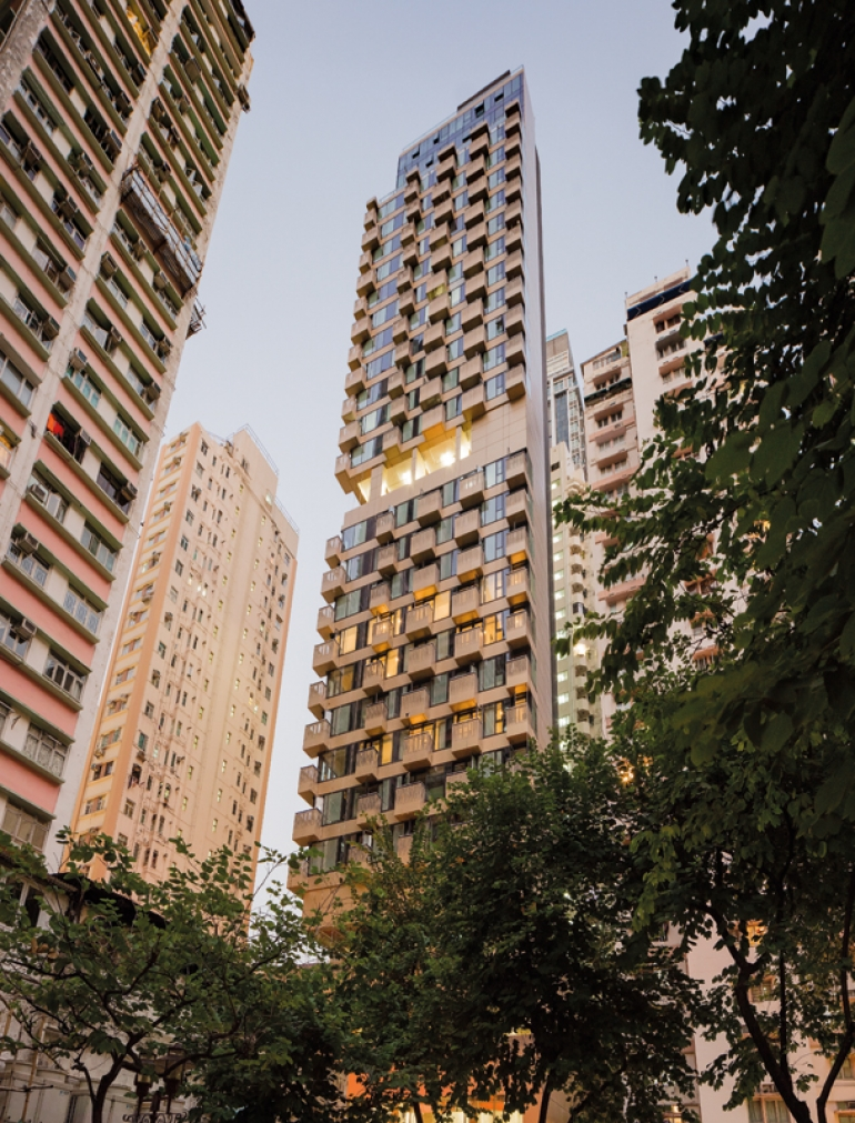 Make Architects completes high-rise luxury residential tower in Wan Chai