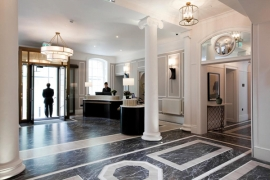 Marble provides exquisite entrance for award winning Five star hotel