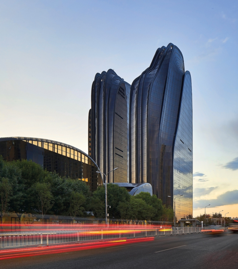 Ma Yansong's Chaoyang Park Plaza complex in Beijing's CBD unfolds as a Shan Shui painting
