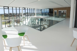 A Modern Finish from Flowcrete UK for Menai Science Park