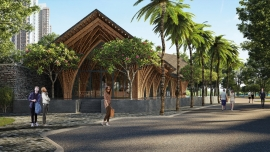 Bamboo pavilion design unveiled by Vietnamese-based Vo Trong Nghia Architects