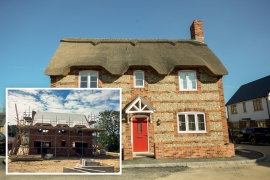 12MM Magply Serves as Fireproof Sarking for New-build Thatched Property