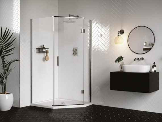 Introducing AQATA's new DS500 Quintet shower enclosure