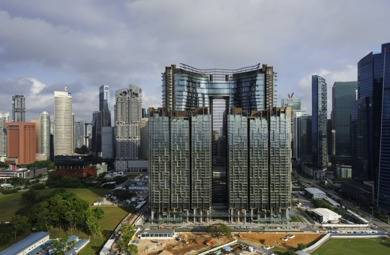 Superlative tropical high-rise takes centre stage in Singapore's commercial hub