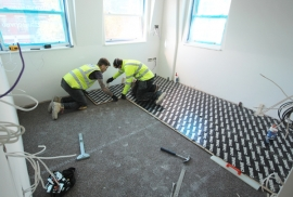 Lowboard provides ideal UFH solution for fit-out of Central London flats