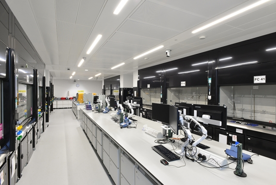 Armstrong Ceilings top a ground-breaking laboratory facility
