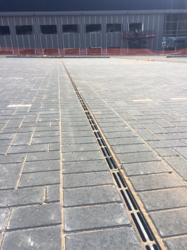 Gatic slotdrain channels are the product of choice for new business park
