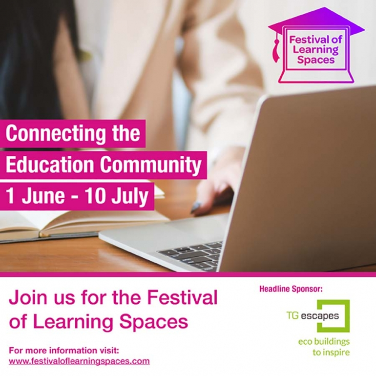 Eco building providers TG Escapes support the Festival of Learning Spaces 1st June-10th July