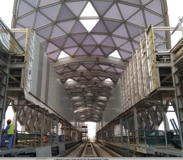Thousands of Powdertech coated panels installed at the Riyadh Metro