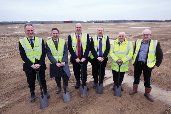 Construction starts on IKO's insulation factory at Alconbury Weald