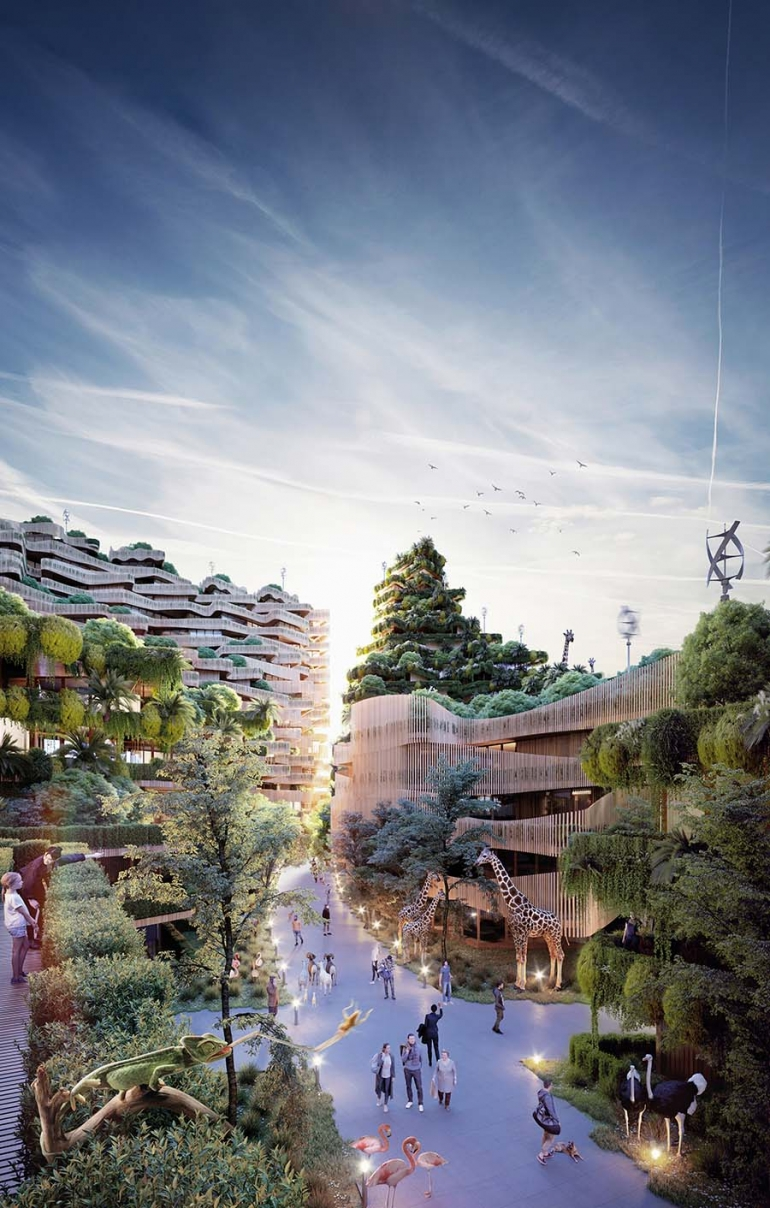 Biophilic Regenerative Architecture Brought to Large-scale Urban Developments