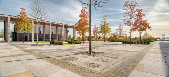 Marshalls supplies Scoutmoor Yorkstone to National Memorial Arboretum