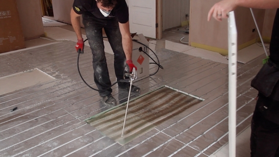 New Over-Floor Heating, Quick to Install with Response