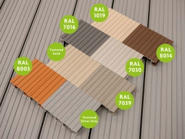 Aluminium Decking Experts AliDeck Launch New Extended 8 Colour Standard Range