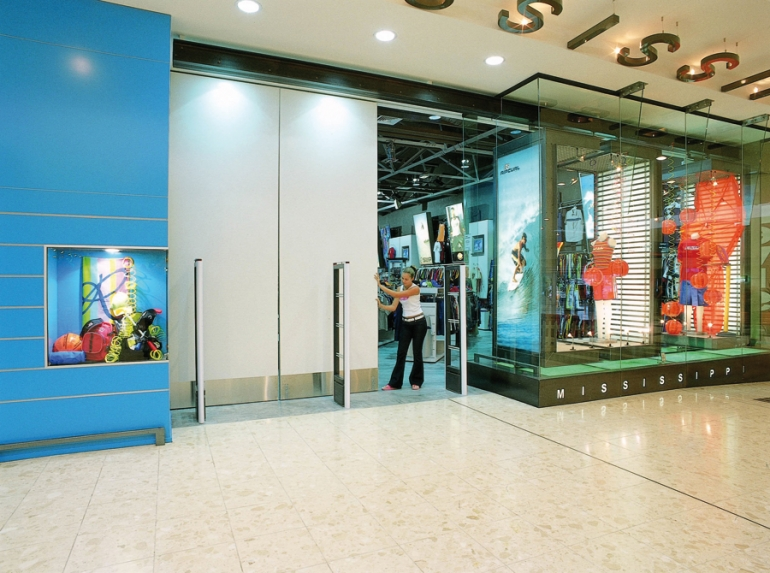 Opening up retail spaces with sliding doors