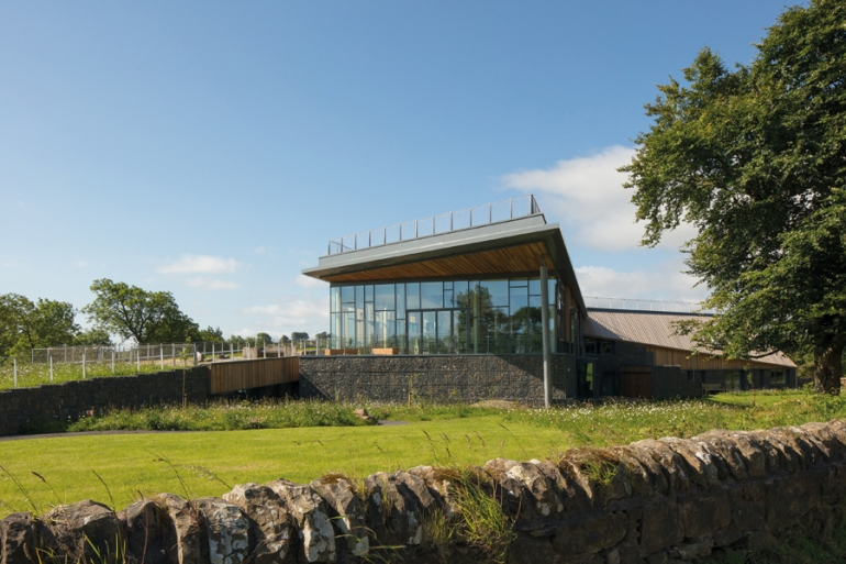 This recently-unveiled discovery centre offers visitors uninterrupted views of Hadrian's Wall