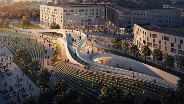 ZHA and A_Lab (Norway) to build two stations on the Fornebubanen metro
